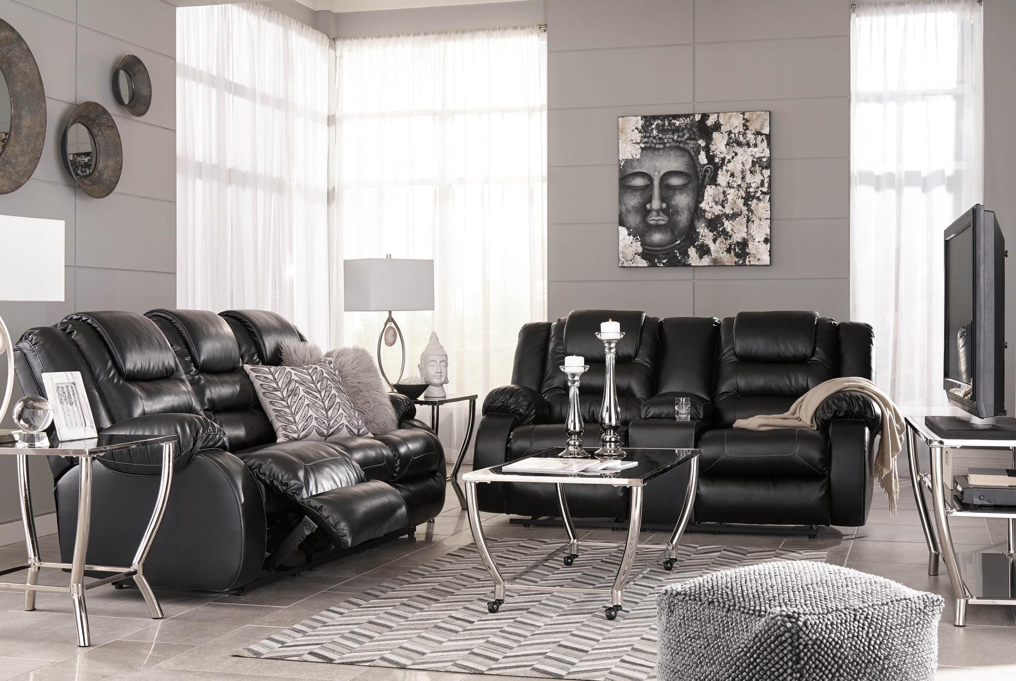 Super 2Pc Vacherie Black Sofa And Loveseat Reclining Set Ibusinesslaw Wood Chair Design Ideas Ibusinesslaworg