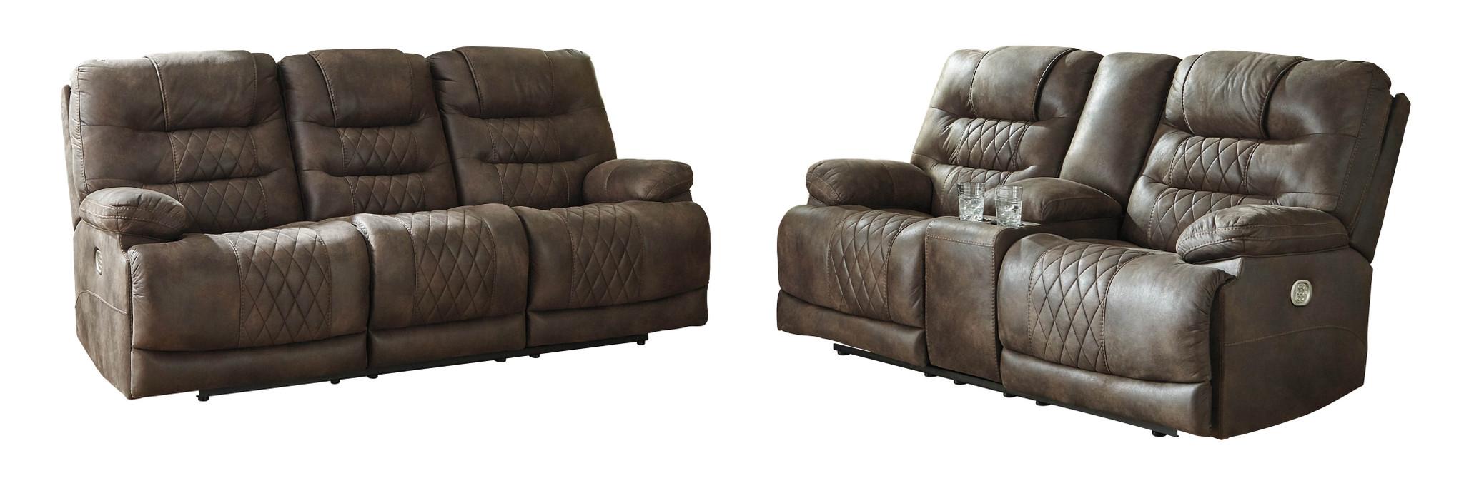 Sensational 2Pc Welsford Walnut Sofa And Loveseat Reclining Set Forskolin Free Trial Chair Design Images Forskolin Free Trialorg