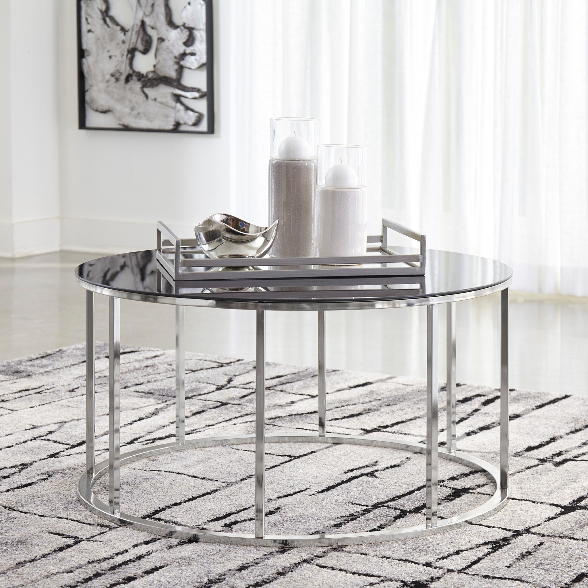 Super Contemporary Clenco Occasional Cocktail Table In Tubular Steel And Tempered Glass Machost Co Dining Chair Design Ideas Machostcouk