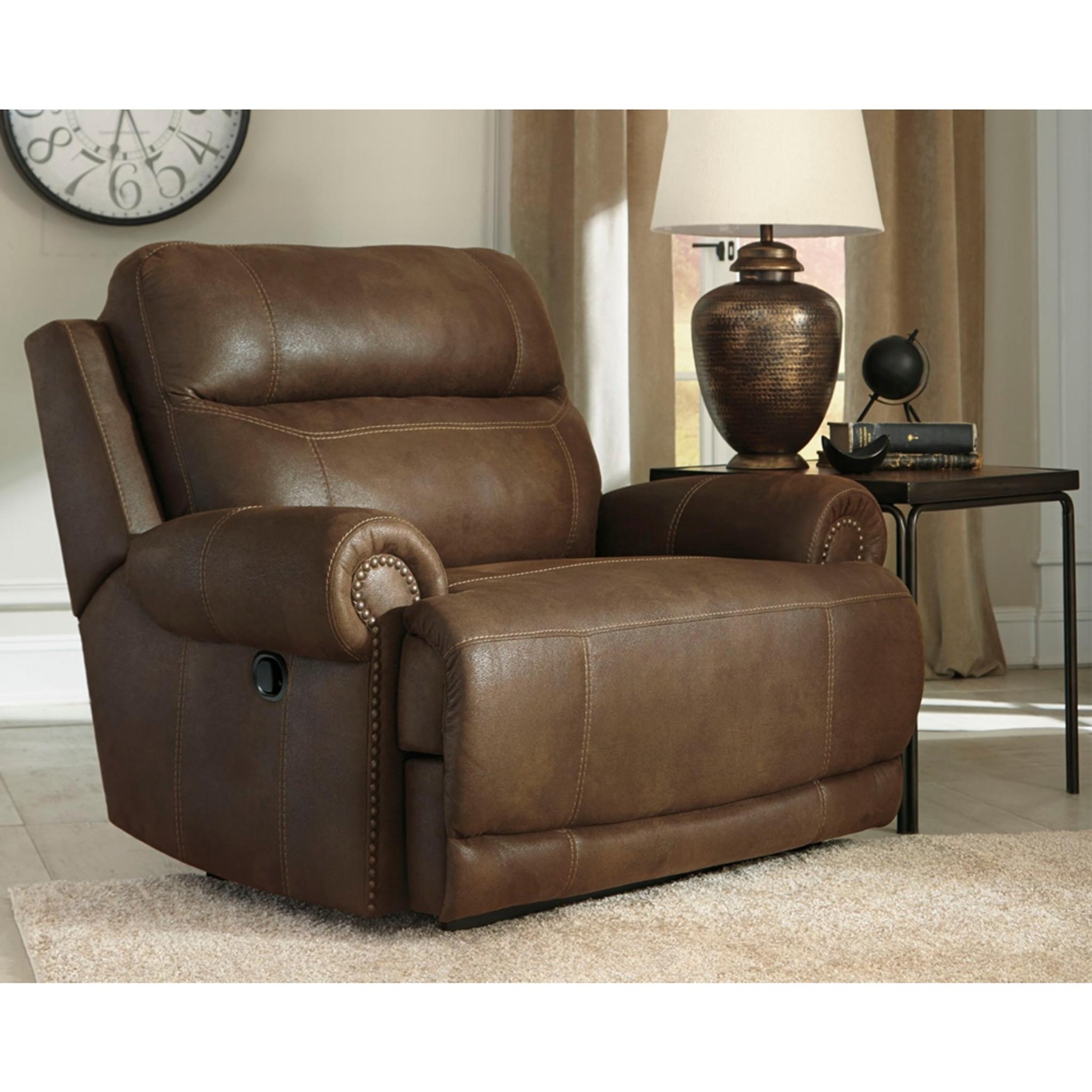 Prime Austere Brown Wide Seat Recliner Spiritservingveterans Wood Chair Design Ideas Spiritservingveteransorg