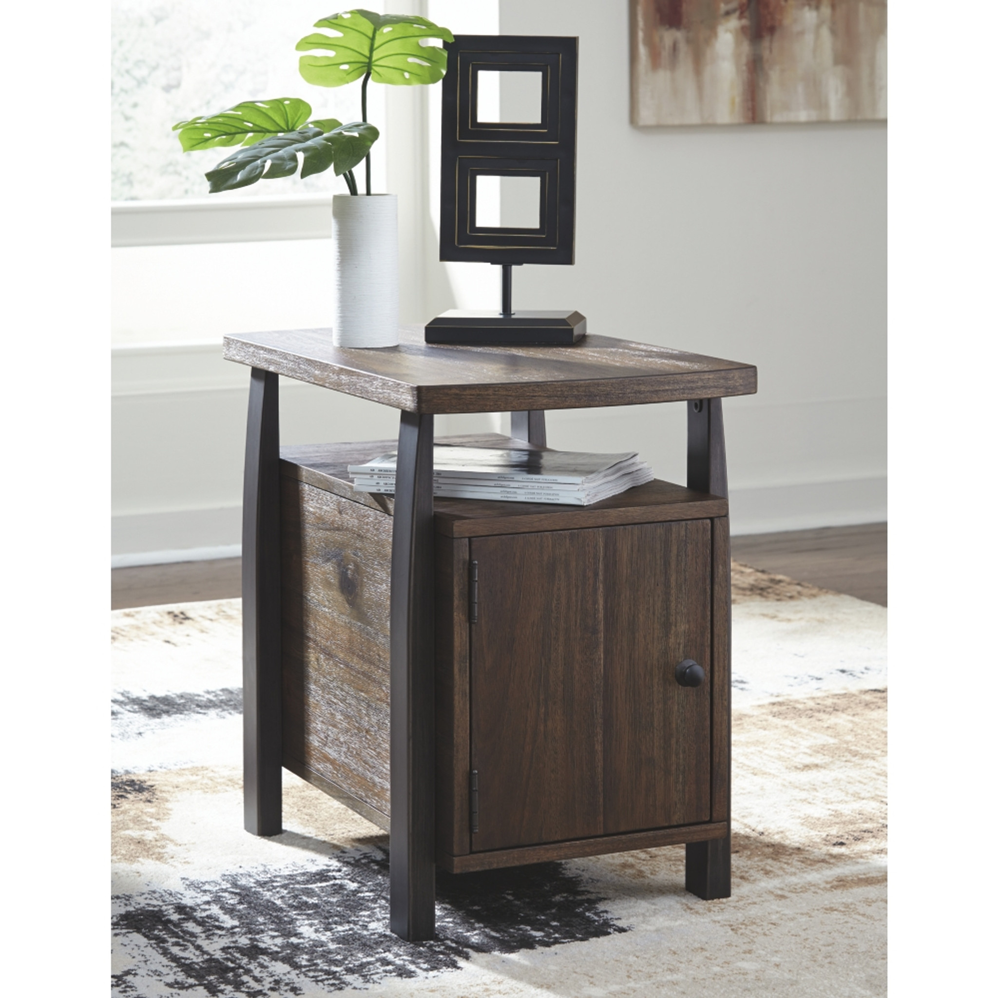 Vailbry Brown Chair Side End Table By Ashley Furniture