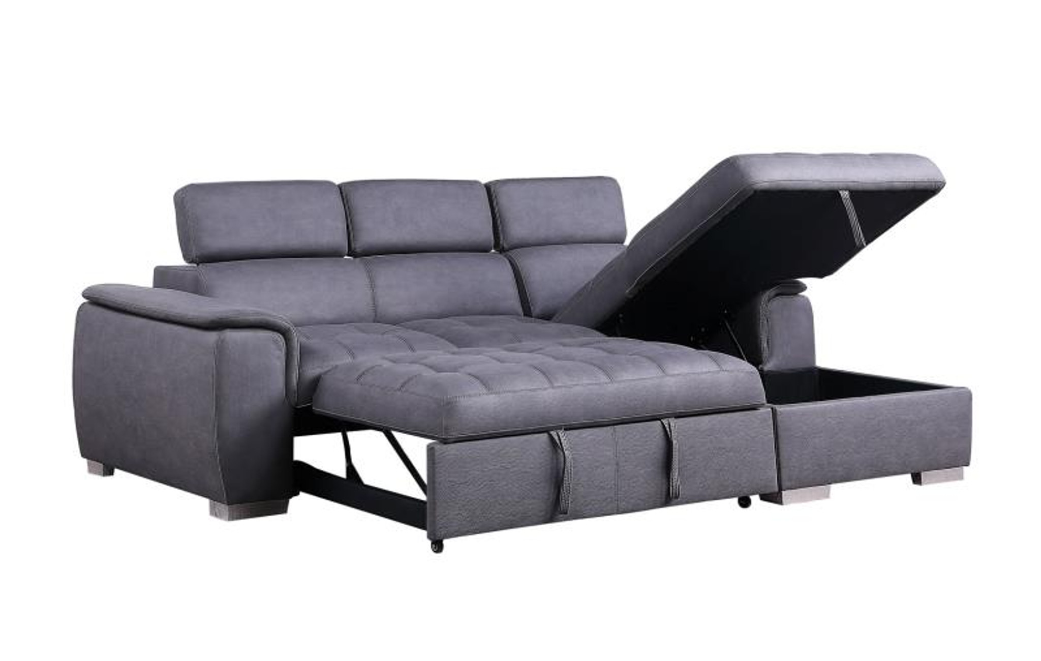 Picture of: 2pc Diego Sectional With Pull Out Bed By Happy Homes
