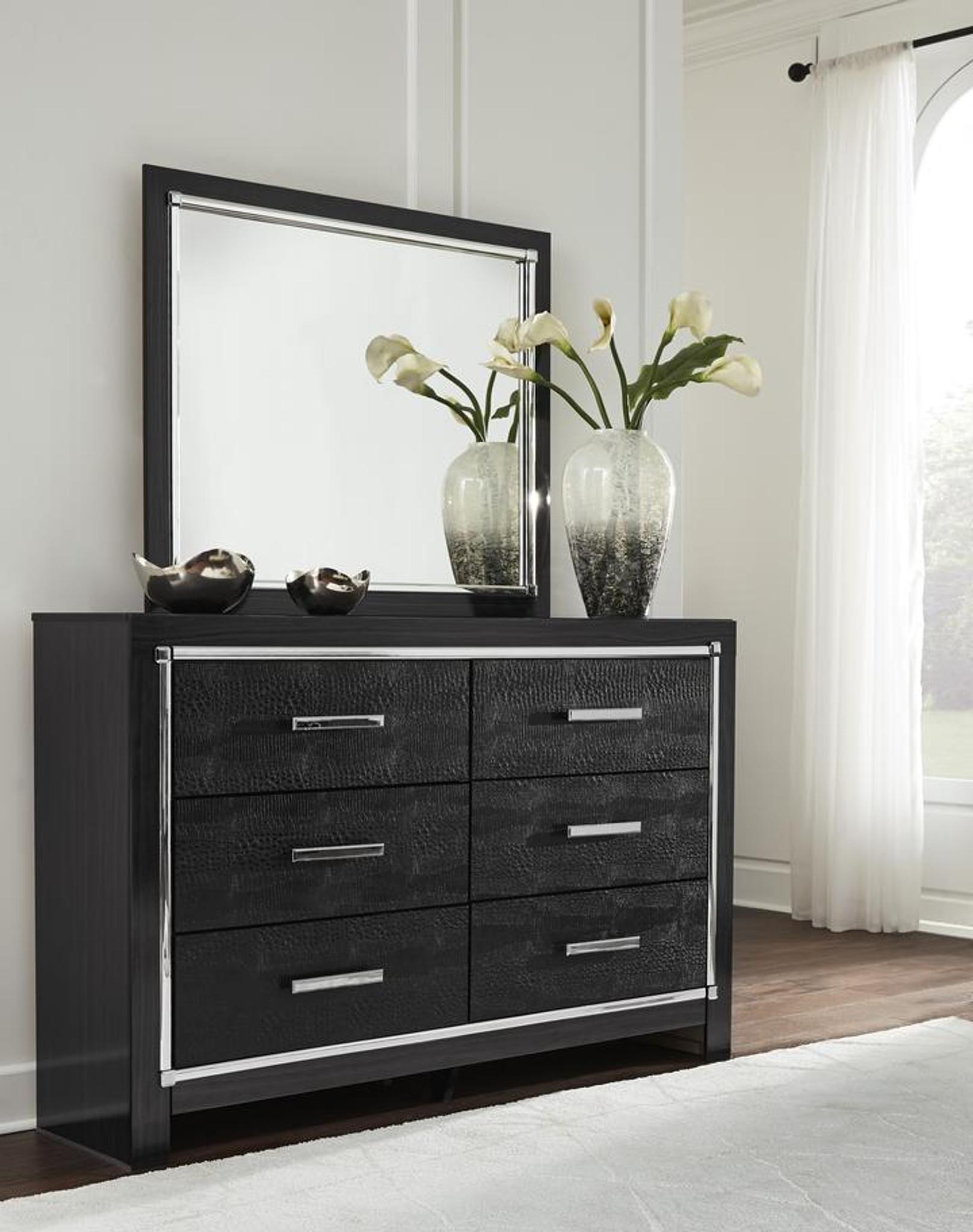 6 Pc Kaydell Black Led Panel Bedroom Set By Km Home Furniture Houston Texas