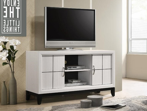 AKERSON TV STAND CHALK