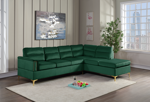 2 Pcs Vogue Sectional Sofa in Green Color