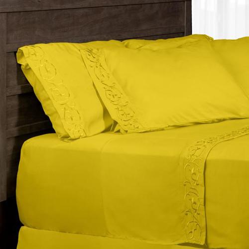 Antonella 6-Piece Yellow Microfiber Sheet Set