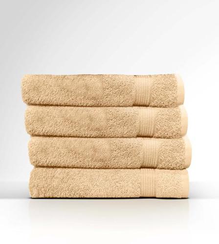 Heaven Spa Solid Beige 4 Piece 100% Cotton Bath Towel