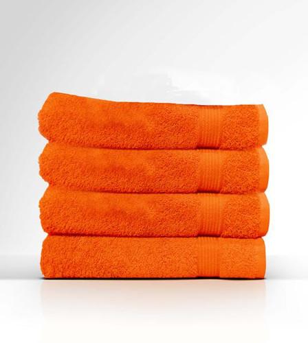 Heaven Spa Solid Orange 4 Piece 100% Cotton Bath Towel