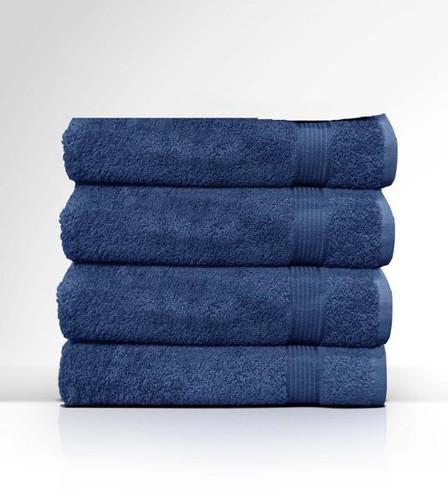 Heaven Spa Solid Navy 4 Piece 100% Cotton Bath Towel