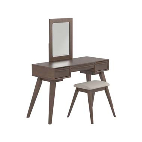 2-Piece Vanity Set With 3-Drawer Medium Brown, 30224