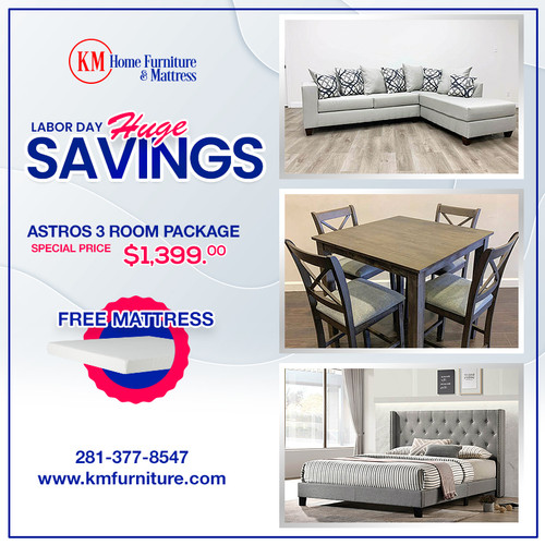 ASTROS 3 ROOM PACKAGE DEAL WITH FREE MATTRESS