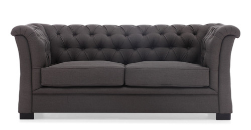 98099 Nob Hill Sofa Charcoal Gray 816226021978 Seating Modern Charcoal Gray Sofa by  Zuo Modern Kassa Mall Houston, Texas Best Design Furniture Store Serving Houston, The Woodlands, Katy, Sugar Land, Humble, Spring Branch and Conroe