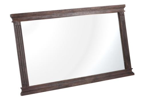 98210 The City Mirror Dark Brown 816226021756 Bedroom Modern Dark Brown Mirror by  Zuo Modern Kassa Mall Houston, Texas Best Design Furniture Store Serving Houston, The Woodlands, Katy, Sugar Land, Humble, Spring Branch and Conroe