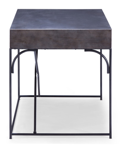 98254 Potrero Hill Desk Distressed Black 816226026775 Tables Modern Distressed Black Desk by  Zuo Modern Kassa Mall Houston, Texas Best Design Furniture Store Serving Houston, The Woodlands, Katy, Sugar Land, Humble, Spring Branch and Conroe