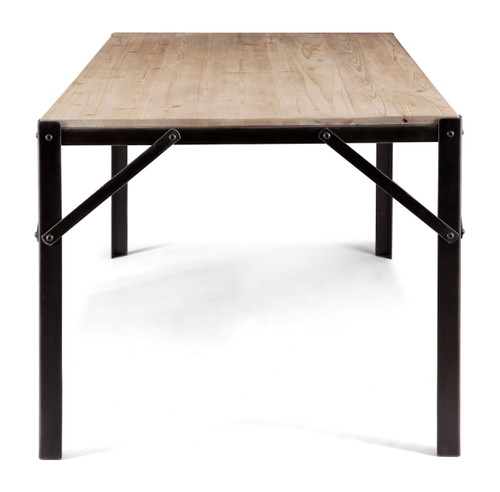 98277 Sunset Dining Table Natural Oak 816226026973 Tables Modern Natural Oak Dining Table by  Zuo Modern Kassa Mall Houston, Texas Best Design Furniture Store Serving Houston, The Woodlands, Katy, Sugar Land, Humble, Spring Branch and Conroe