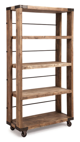 98304 Newcomb Wide 4 Level Shelf Distressed Natural 816226027239 Storage Modern Distressed Natural Wide 4 Level Shelf by  Zuo Modern Kassa Mall Houston, Texas Best Design Furniture Store Serving Houston, The Woodlands, Katy, Sugar Land, Humble, Spring Branch and Conroe