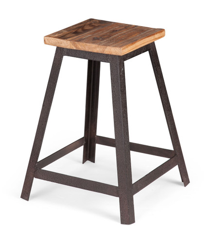 98315 Leland Stool Distressed Natural 816226027338 Seating Modern Distressed Natural Stool by  Zuo Modern Kassa Mall Houston, Texas Best Design Furniture Store Serving Houston, The Woodlands, Katy, Sugar Land, Humble, Spring Branch and Conroe