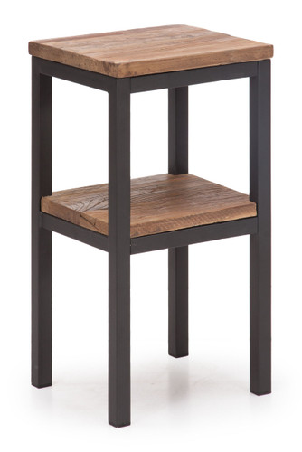 98317 Harkness Side Table Distressed Natural 816226027352 Bedroom Modern Distressed Natural Side Table by  Zuo Modern Kassa Mall Houston, Texas Best Design Furniture Store Serving Houston, The Woodlands, Katy, Sugar Land, Humble, Spring Branch and Conroe