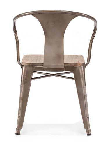 Helix Chair Rustic Wood