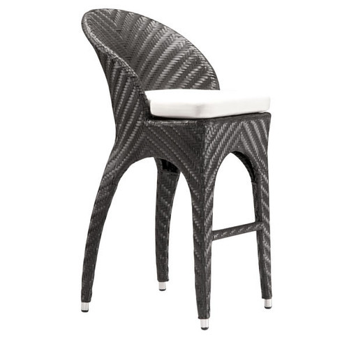 701220 Corona Bar Chair Espresso 811938018414 Wicker Modern Espresso Bar Chair by  Zuo Modern Kassa Mall Houston, Texas Best Design Furniture Store Serving Houston, The Woodlands, Katy, Sugar Land, Humble, Spring Branch and Conroe