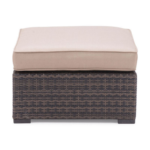 701284 Bocagrande Ottoman Brown 816226024696 Wicker Modern Brown Ottoman by  Zuo Modern Kassa Mall Houston, Texas Best Design Furniture Store Serving Houston, The Woodlands, Katy, Sugar Land, Humble, Spring Branch and Conroe