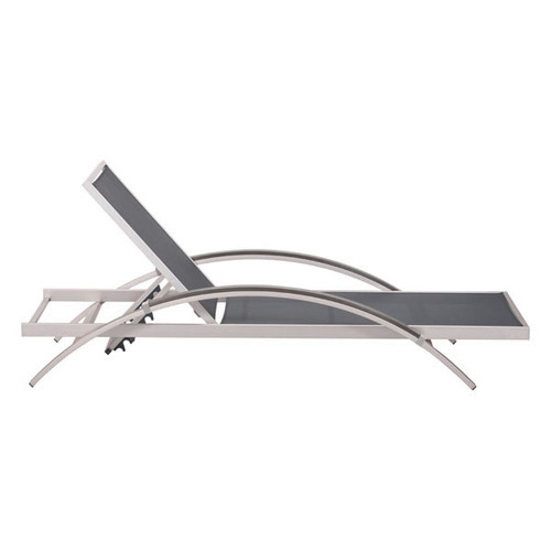 703187 Metropolitan Chaise Lounge Brushed Aluminum 816226024269 Brush Aluminum Modern Brushed Aluminum Chaise Lounge by  Zuo Modern Kassa Mall Houston, Texas Best Design Furniture Store Serving Houston, The Woodlands, Katy, Sugar Land, Humble, Spring Branch and Conroe