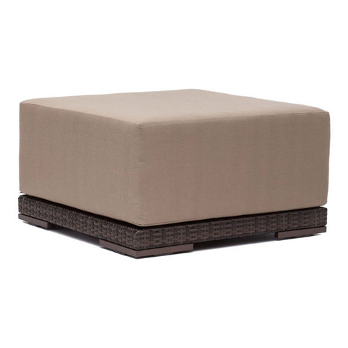 703023 Park Island Ottoman Brown 816226022821 Wicker Modern Brown Ottoman by  Zuo Modern Kassa Mall Houston, Texas Best Design Furniture Store Serving Houston, The Woodlands, Katy, Sugar Land, Humble, Spring Branch and Conroe