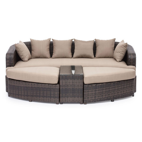 703060 Cove Beach Lounge Set Brown 816226023026 Wicker Modern Brown Lounge Set by  Zuo Modern Kassa Mall Houston, Texas Best Design Furniture Store Serving Houston, The Woodlands, Katy, Sugar Land, Humble, Spring Branch and Conroe