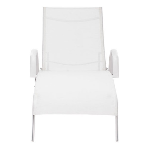 703077 Casam Chaise Lounge White 816226023088 Special Material Modern White Chaise Lounge by  Zuo Modern Kassa Mall Houston, Texas Best Design Furniture Store Serving Houston, The Woodlands, Katy, Sugar Land, Humble, Spring Branch and Conroe