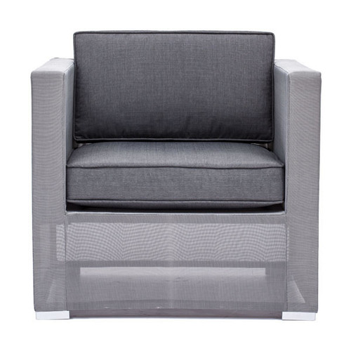 703084 Clear Water Bay Arm Chair Gray 816226023149 Special Material Modern Gray Arm Chair by  Zuo Modern Kassa Mall Houston, Texas Best Design Furniture Store Serving Houston, The Woodlands, Katy, Sugar Land, Humble, Spring Branch and Conroe