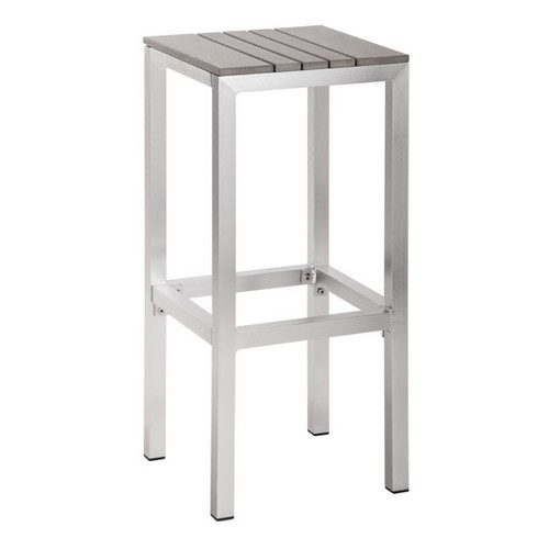 703229 Gotham Bar Stool Gray 816226025754 Brush Aluminum Modern Gray Bar Stool by  Zuo Modern Kassa Mall Houston, Texas Best Design Furniture Store Serving Houston, The Woodlands, Katy, Sugar Land, Humble, Spring Branch and Conroe