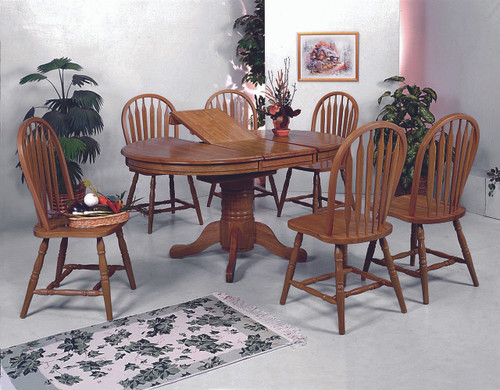 Butterfly Leaf Dining Table Top with 4 Side Chairs