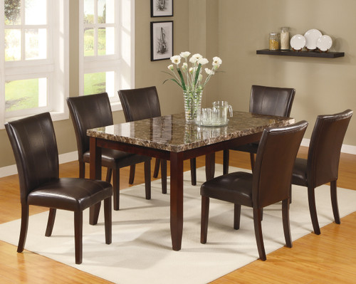 Ferrara Dining Table Top with 4 Side Chairs