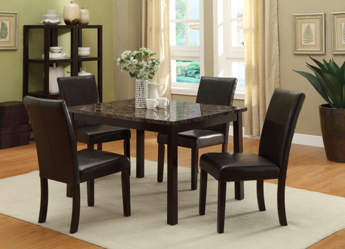 Pompei Dining Table Top with 4 Side Chairs