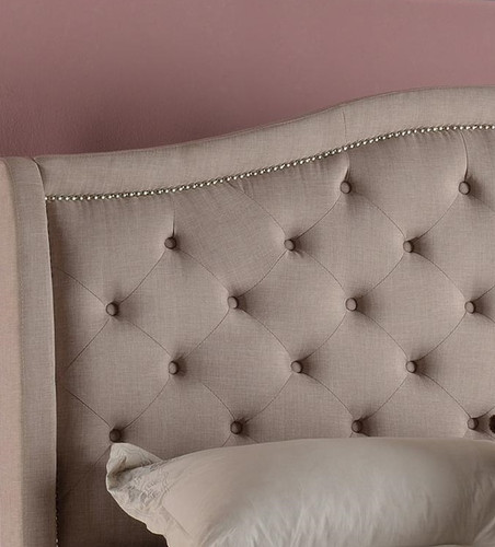 Addison Upholstered Queen Bed with Tufted Headboard