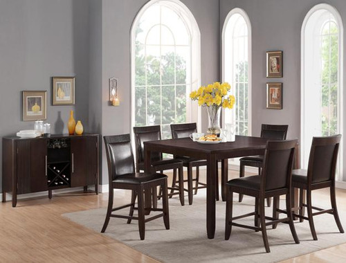 ARIANA COUNTER HEIGHT DINING TABLE TOP 5 Piece Set ESPRESSO