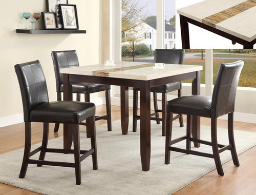 LARISSA COUNTER HEIGHT DINING TABLE TOP 5 Piece Set