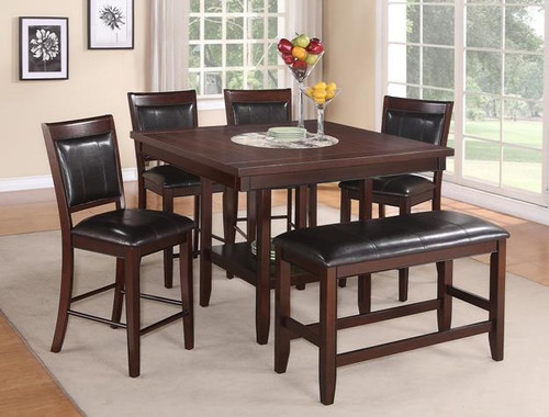 5PC FULTON COUNTER HEIGHT DINING TABLE SET