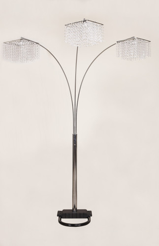 Crystal Floor Lamp - 6217F-SV