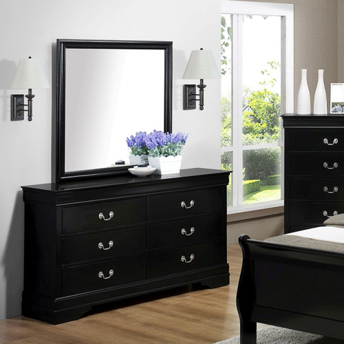 Louis Phillip Dresser and Mirror -B3900-1