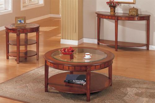 ALEXANDER ESPRESSO WOOD TOP COFFEE TABLE-F6128