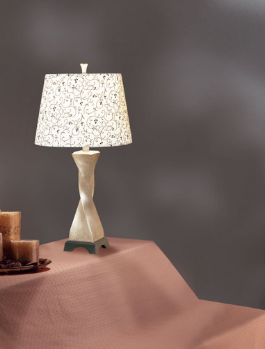 TABLE LAMP 27'H (WHITE)