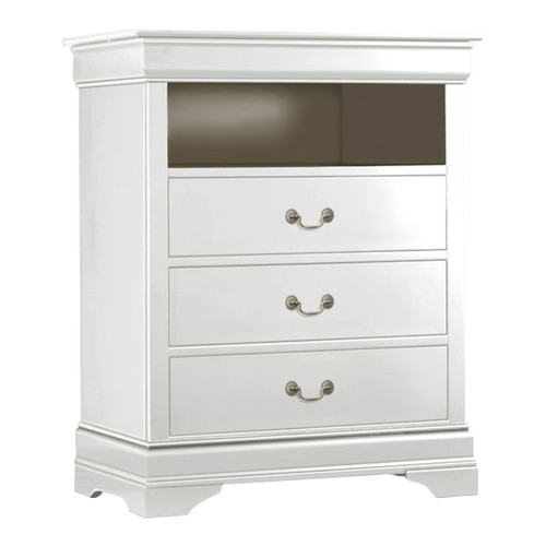LOUIS PHILLIP MEDIA CHEST IN WHITE