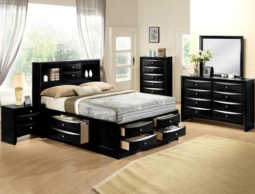 EMILY STORAGE BLACK BEDROOM