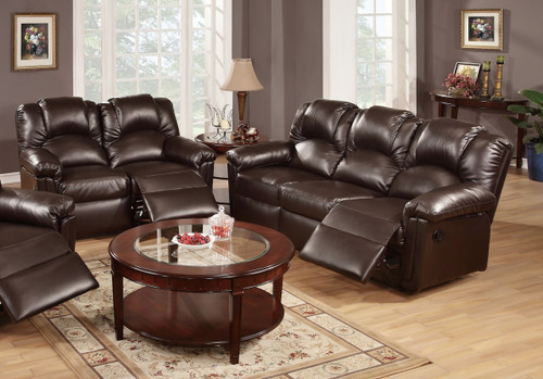 2PC DUSTIN RECLINER SOFA AND LOVESEAT (ESPRESSO) -F6676