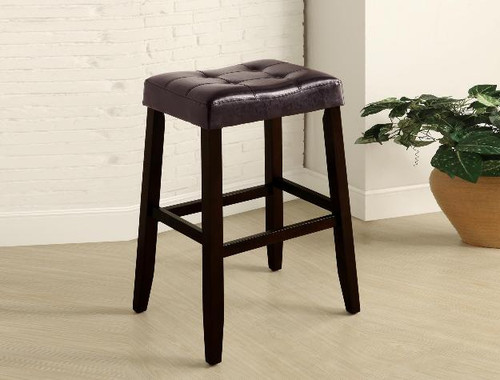KENT SADDLE CHAIR ESPRESSO PUB OR BAR STOOL  (SET OF 2)