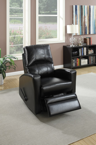 SWIVEL RECLINER CHAIR IN BLACK COLOR