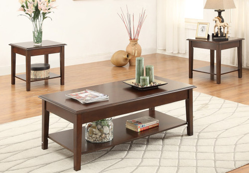 3-PCS WOODEN TOP COFFEE TABLE SET-F3139