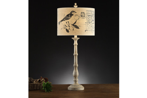 """SLIM BASE AND PICTURESQUE SHADE TABLE LAMP 33"""" H (2 LAMPS)"""