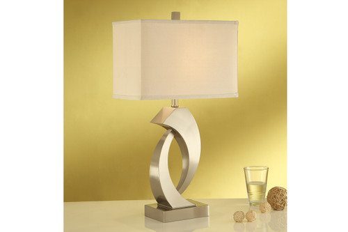 """ABSTRACT SCULPTURE BASE TABLE LAMP 30""""H (2 LAMPS)"""
